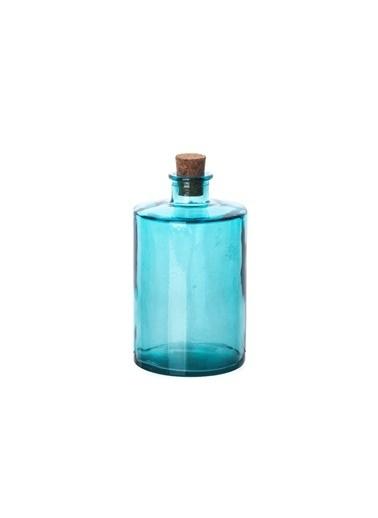 San Miguel Cilind Şişe 16 Cm Mavi Mavi